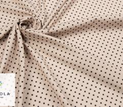 Tkanina Silki - Kropeczki na Beżu