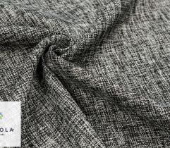 Tkanina Boucle - Czarno-biały Melanż