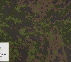 Tkanina Elanobawełna - Kamuflaż Fiński M05