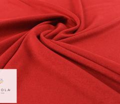 Tkanina Flausz Verona - Czerwona podklejona