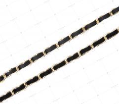 Taśma aksamitka z łańcuszkiem - 8 mm