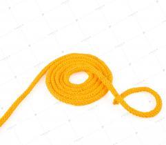 Sznurek bawełniany z rdzeniem 5 mm - Żółty