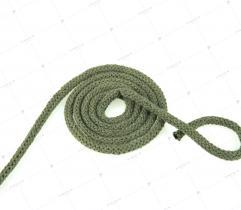 Sznurek bawełniany z rdzeniem 5 mm - Khaki
