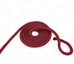 Sznurek bawełniany z rdzeniem 5 mm - Bordowy