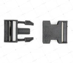 Klamra zatrzaskowa 40 mm prosta - Czarna