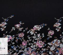 Dzianina Interlock Kwiaty - Panel 56 cm