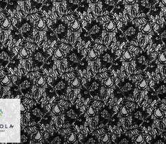 Koronka - Kwiaty Podwójne Czarne