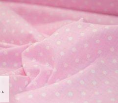 Bawełna pościelowa różowa w groszki