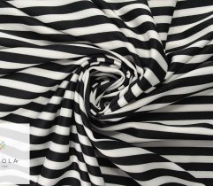 Knit scuba, 1 cm black and white stripes