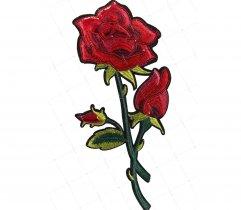 Naprasowanka róża cekiny (230)
