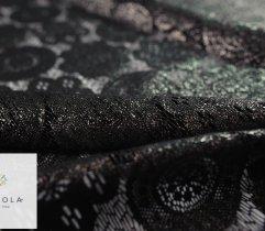 Koronka Plen Kameleon Czarno-Srebrny