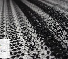Koronka plen stabilna czarny ażurowy wzór