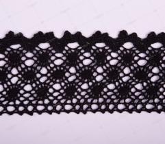 Koronka Bawełniana Czarna 6,5 cm (229)