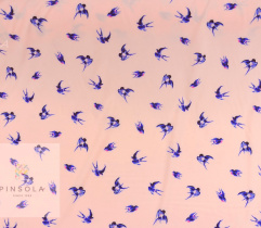 Woven crepe Silki - blue swallows
