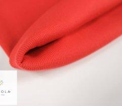 Jersey ściągacz prążek czerwony rękaw szer. 60 cm