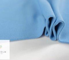Jersey ściągacz prążek niebieski rękaw szer. 60 cm