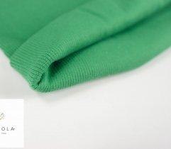 Jersey ściągacz prążek zielony rękaw szer. 60 cm