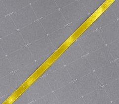 Wstążka atłasowa żólta 6 mm