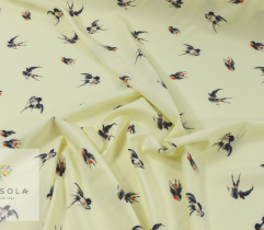 Silki crepe jaskółki żółte