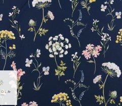 Silki granatowe polne kwiaty
