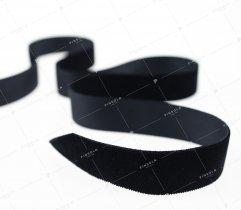 Aksamitka wstążka 25 mm czarna (390)