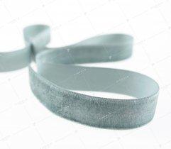 Aksamitka wstążka 25 mm szara (421)