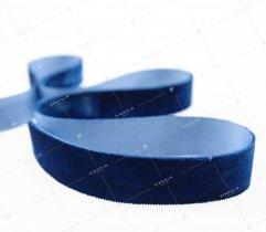 Velvet ribbon, navy blue, 25 mm (420)