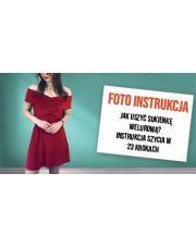 Jak uszyć sukienkę welurową? - instrukcja szycia w 23 krokach