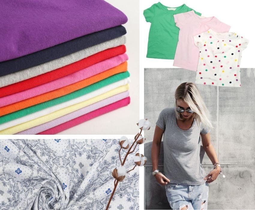Kolorowe ubrania z jereseyu bawełnianego
