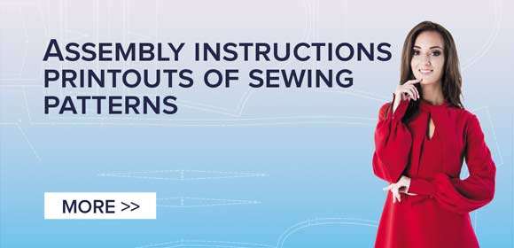 Instructions for printing and folding sewing pattern in A4 format